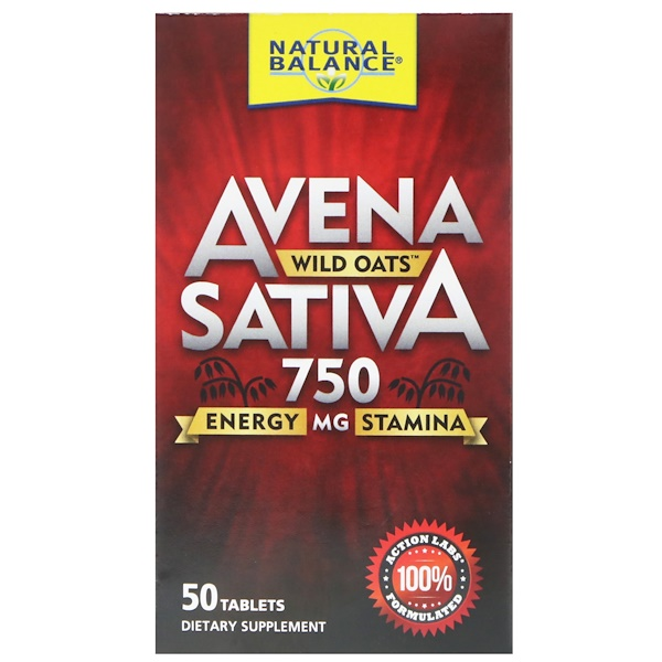 Natural Balance, Avena Sativa, Wild Oats, 750 mg , 50 Tablets (Discontinued Item)