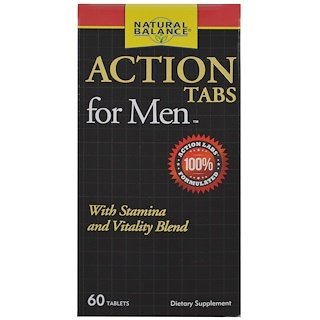 Natural Balance, Action Tabs for Men, 60 Tablets