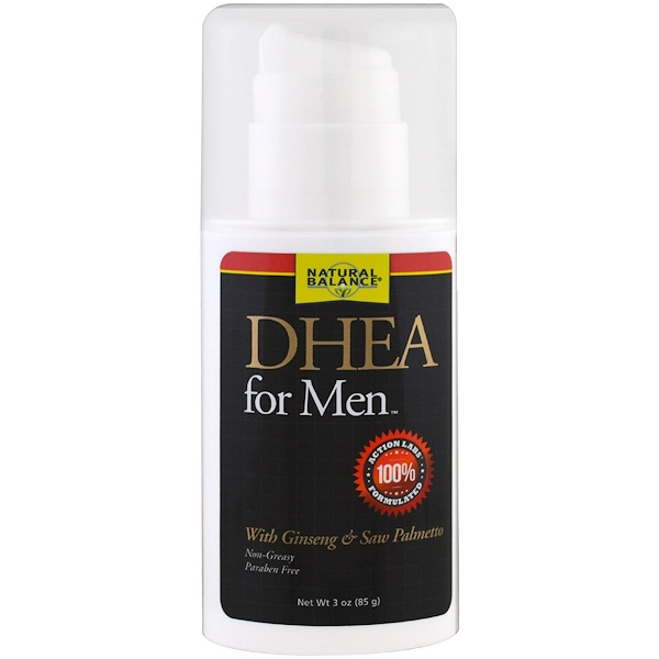 Natural Balance, DHEA(脫氫表雄酮)男士護膚霜,3 盎司(85 克)