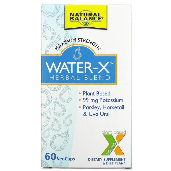 Water-X, Herbal Blend, Maximum Strength, 60 VegCaps