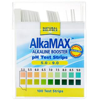Natural Balance, AlkaMax, 알칼리 부스터 pH 테스트 스트립, 100매입