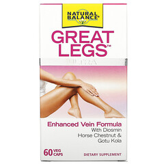 Natural Balance, Great Legs Ultra, Enhanced Vein Formula, 60 Veg Caps