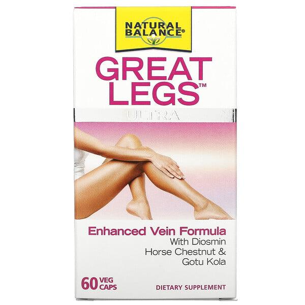 Great Legs Ultra, Enhanced Vein Formula, 60 Veg Caps