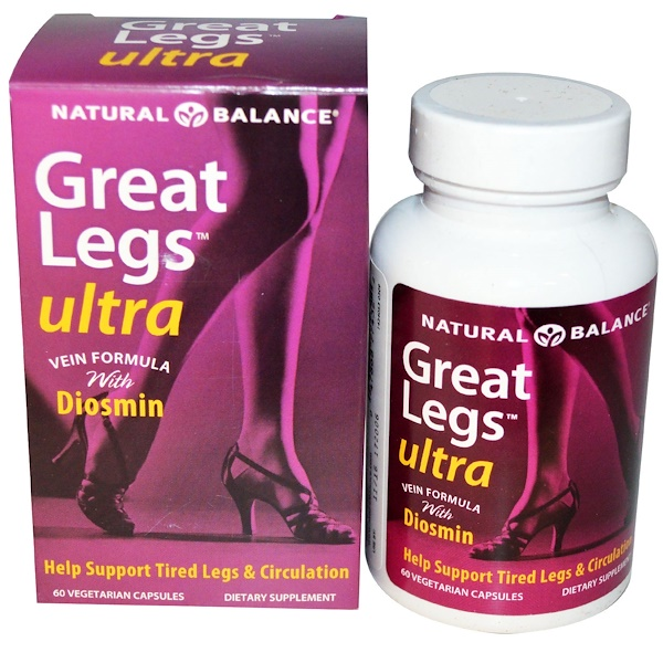 Great Legs, Ultra Vein Formula, 60 Veggie Caps
