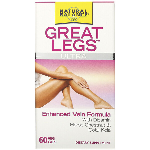 Great Legs, Ultra Enhanced Vein Formula, 60 Veggie Caps
