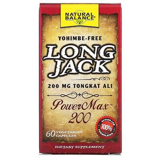Natural Balance, Long Jack, PowerMax 200, 60 Cápsulas Vegetales