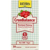 Natural Balance, Cran Balance,尿路健康配方,30 粒素食膠囊
