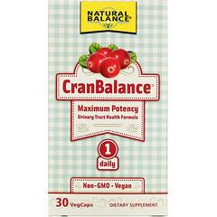 Natural Balance, CranBalance,泌尿道健康配方,30 粒素食膠囊