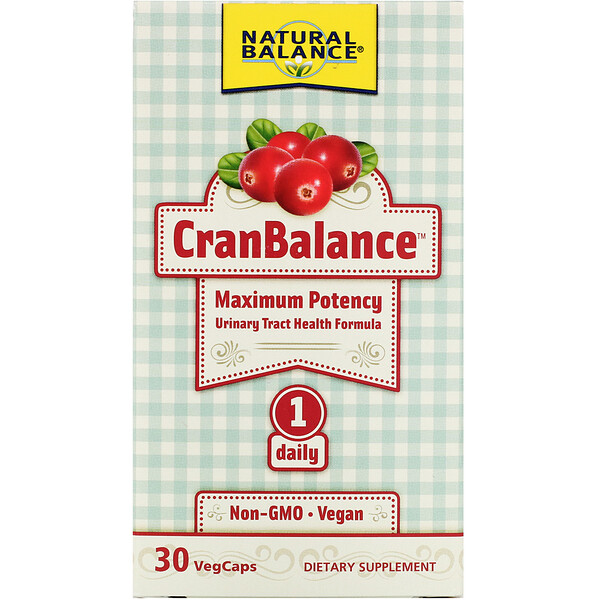 CranBalance, Urinary Tract Health Formula, 30 VegCaps