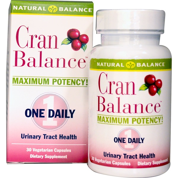 Natural Balance, Cran Balance, Urinary Tract Health, 30 Veggie Caps (Discontinued Item)