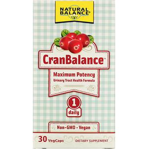 Natural Balance, Cran Balance,尿路健康配方,30 粒素食膠囊'
