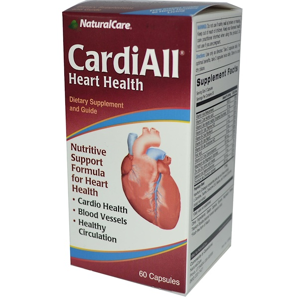 NaturalCare, CardiAll, Heart Health, 60 Capsules (Discontinued Item)