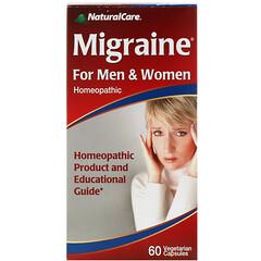 NaturalCare, 側頭部疼痛,男女通用,60 粒素食膠囊