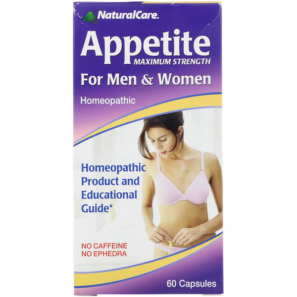 Appetite, Maximum Strength, For Men & Women, No Caffeine, 60 Capsules