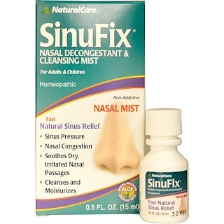 Natural Care, SinuFix, Nasal Decongestant & Cleansing Mist, 0.5 fl oz (15 ml)