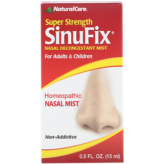 NaturalCare, Super Strength SinuFix, Nasal Decongestant Mist, 0.5 fl oz (15 ml)