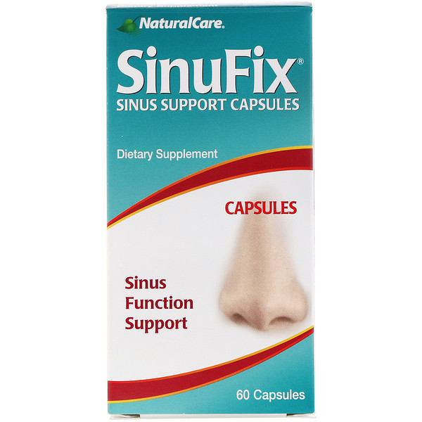 NaturalCare, SinuFix, Sinus Function Support, 60 Capsules (Discontinued Item)