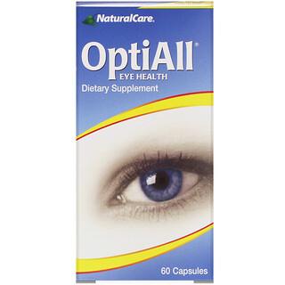 NaturalCare, Salud para los ojos OptiAll, 60 cápsulas