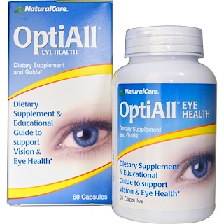 Natural Care, OptiAll Eye Health, 60 Capsules