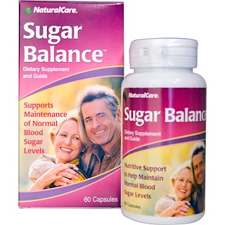Natural Care, Sugar Balance, 60 Capsules