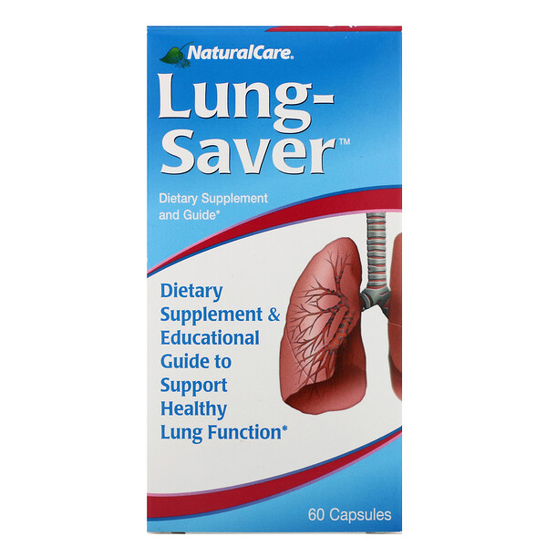 NaturalCare, Lung-Saver, 60 cápsulas