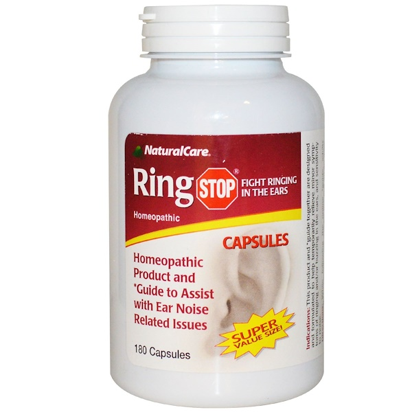 Natural Care, Ring Stop, 180 Capsules