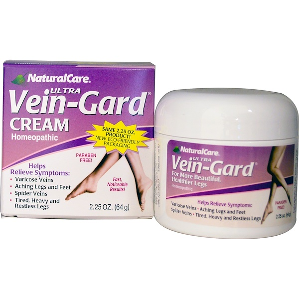 NaturalCare, Ultra Vein-Gard Cream, 2.25 oz (64 g)