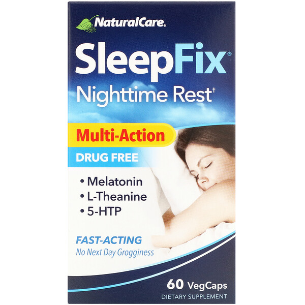 NaturalCare, SleepFix, Nighttime Rest, 60 VegCaps