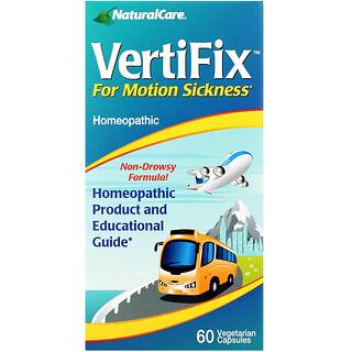 NaturalCare, VertiFix, For Motion Sickness, 60 Vegetarian Capsules