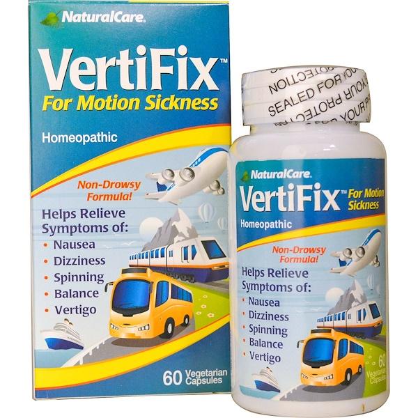 Natural Care, VertiFix,  средство от укачивания, 60 вегетарианских капсул (Discontinued Item)