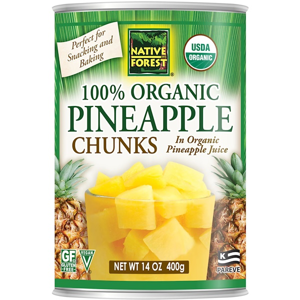 Native Forest, Edward & Sons, Native Forest, 100% Organic Pineapple Chunks, 14 oz (400 g) (Discontinued Item)