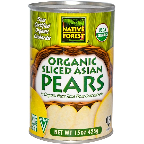 Native Forest, Organic Sliced Asian Pears, 15 oz (425 g) (Discontinued Item)