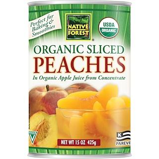 Native Forest, オーガニック スライスピーチ入りオーガニック アップルジュース (濃縮果汁還元), 15 オンス (425 g)