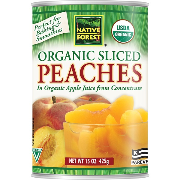 Native Forest, Edward & Sons, Native Forest, Organic Sliced Peaches, 15 oz (425 g) (Discontinued Item)