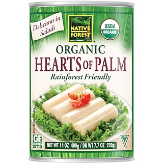 Native Forest, Edward & Sons, Native Forest, Organic Hearts of Palm, 14 oz (400 g)