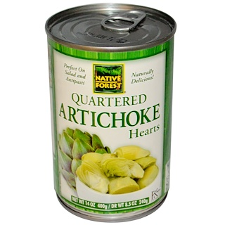 Native Forest, Quartered Artichoke Hearts, 14 oz (400 g)
