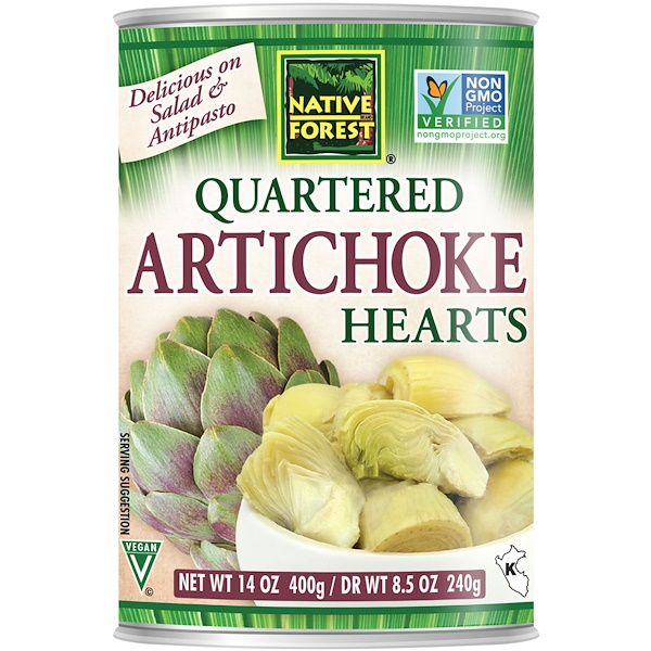 Native Forest, Edward & Sons, Native Forest, Quartered Artichoke Hearts, 14 oz (400 g) (Discontinued Item)