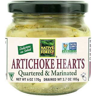 Native Forest, Edward & Sons, Native Forest, Artichoke Hearts, Quartered & Marinated, 6 oz (170 g)