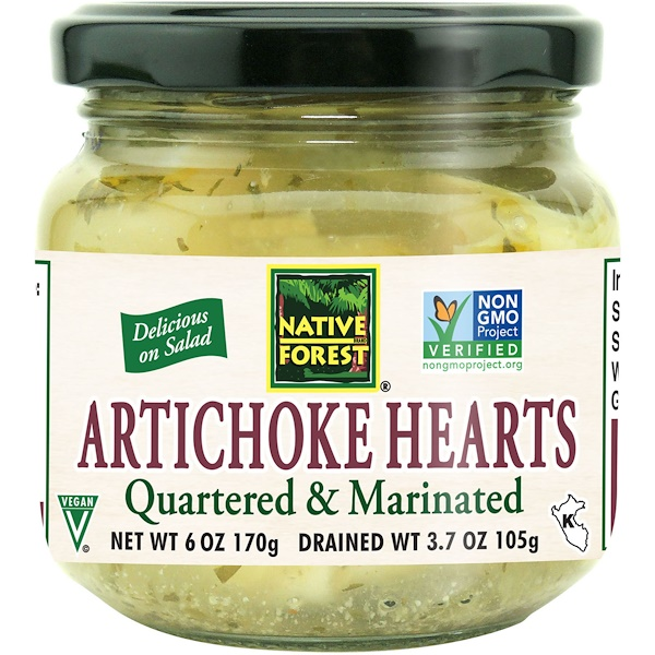 Native Forest, Edward & Sons, Native Forest, Artichoke Hearts, Quartered & Marinated, 6 oz (170 g) (Discontinued Item)