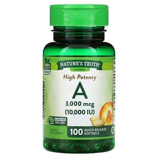 Nature's Truth, High Potency Vitamin A, 3,000 mcg (10,000 IU), 100 Quick Release Softgels