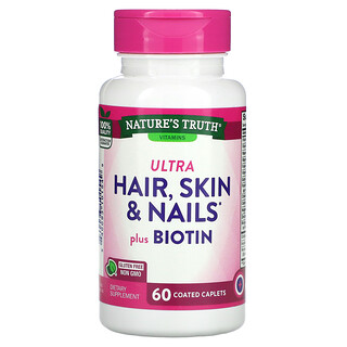 Nature's Truth, Ultra Hair, Skin & Nails Plus Biotin,  60 Coated Caplets