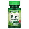 Nature's Truth, Vitamin B-12 plus Folic Acid, Natural Berry, 2,500 mcg, 60  Fast Dissolve Tablets