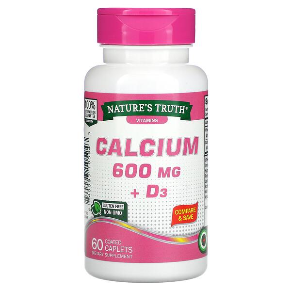 Calcium Plus Vitamin D3, 600 mg, 60 Coated Caplets