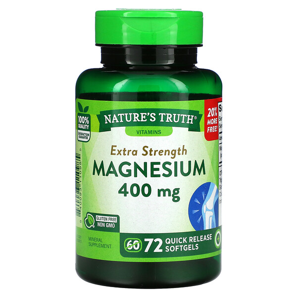 Extra Strength Magnesium, 400 mg, 72 Quick Release Softgels