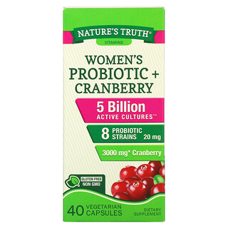 Nature's Truth, Women's Probiotic + Cranberry, 40 Vegetarian Capsules