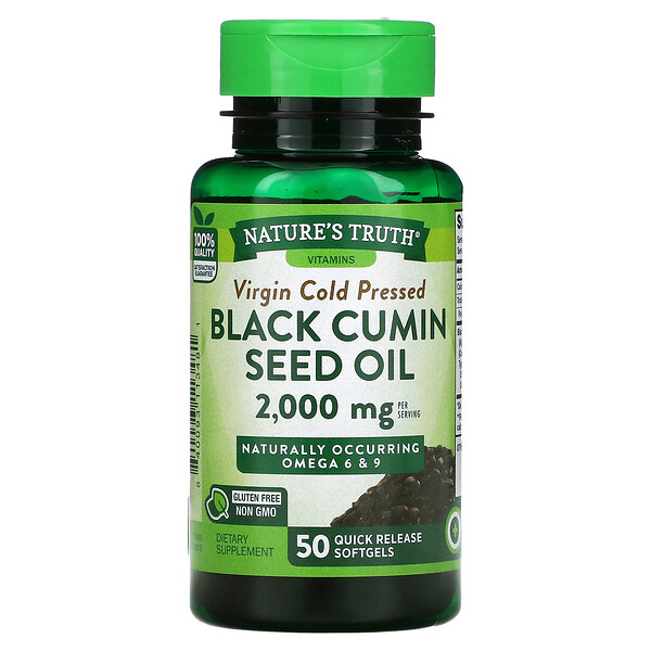 Black Cumin Seed Oil, 1,000 mg, 50 Quick Release Softgels
