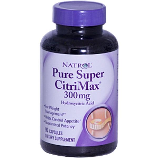 Natrol, Pure Super CitriMax, Hydroxycitric Acid, 300 mg, 90 Capsules (Discontinued Item)