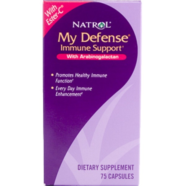 Natrol, My Defense Immune Support, 75 Capsules (Discontinued Item)