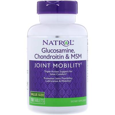 Купить Глюкозамин, хондроитин и МСМ, 150 таблеток