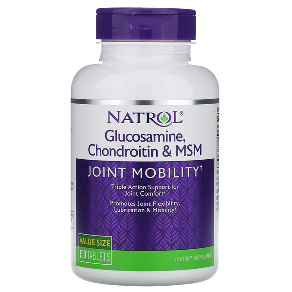 Glucosamine, Chondroitin & MSM, 150 Tablets
